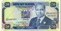20 Shillings KENYA  1992 P.25e SUP