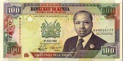 100 Shillings KENYA  1992 P.27e pr.NEUF