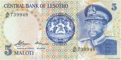 5 Maloti LESOTHO  1981 P.05a NEUF