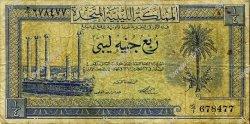 1/4 Pound LIBYE  1951 P.07 B+