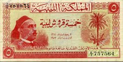 5 Piastres LIBYE  1952 P.12 TTB