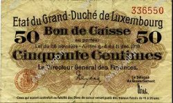 50 Centimes LUXEMBOURG  1919 P.26 TB