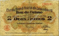 2 Francs LUXEMBOURG  1919 P.28 B+