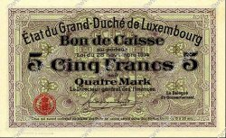 5 Francs LUXEMBOURG  1919 P.23c NEUF