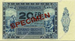 20 Francs LUXEMBOURG  1929 P.37s NEUF