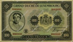100 Francs LUXEMBOURG  1934 P.39a SUP+