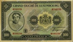 100 Francs LUXEMBOURG  1934 P.39a SUP