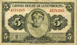 5 Francs LUXEMBOURG  1944 P.43a