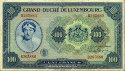 100 Francs LUXEMBOURG  1944 P.47a TTB