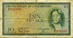 10 Francs LUXEMBOURG  1954 P.48a pr.TB
