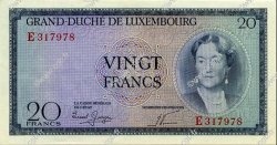 20 Francs  LUXEMBOURG  1955 P.49a pr.NEUF