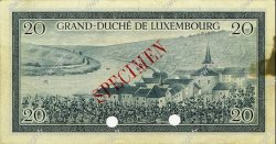 20 Francs LUXEMBOURG  1955 P.49s TTB+