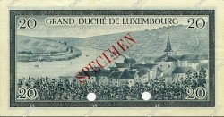 20 Francs LUXEMBOURG  1955 P.49s SPL
