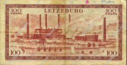 100 Francs LUXEMBOURG  1956 P.50a TB
