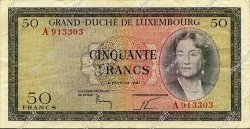 50 Francs LUXEMBOURG  1961 P.51a TTB