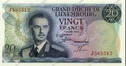20 Francs LUXEMBOURG  1966 P.54a pr.NEUF