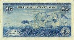 5 Pounds MALAWI  1964 P.04 TTB