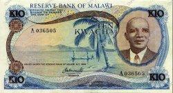 10 Kwacha MALAWI  1973 P.12a SUP
