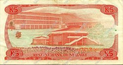 5 Kwacha MALAWI  1988 P.20b TTB
