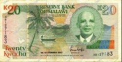 20 Kwacha MALAWI  1990 P.26 TTB