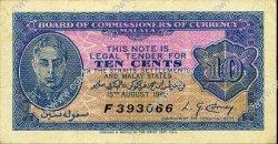 10 Cents MALAYA  1940 P.02 TTB