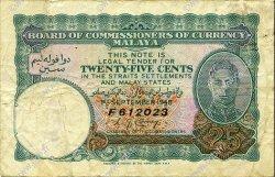 25 Cents MALAYA  1940 P.03 TB