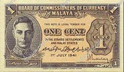 1 Cent MALAYA  1941 P.06 SPL