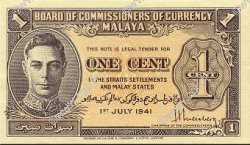 1 Cent MALAYA  1941 P.06 NEUF