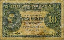 10 Cents MALAYA  1941 P.08 B