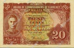 20 Cents MALAYA  1941 P.09a pr.NEUF