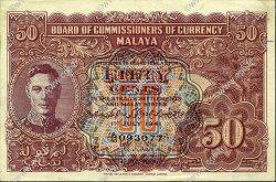 50 Cents MALAYA  1941 P.10b SUP+