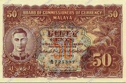 50 Cents MALAYA  1941 P.10b NEUF