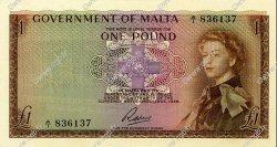 1 Pound MALTE  1963 P.26 NEUF
