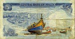 5 Liri MALTE  1973 P.32b TB