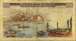 10 Liri MALTE  1973 P.33b pr.TB
