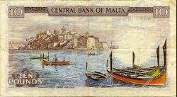 10 Liri MALTE  1973 P.33c TTB