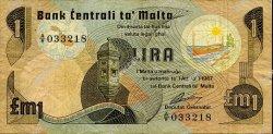 1 Lira MALTE  1979 P.34a pr.TTB
