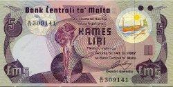 5 Liri MALTE  1979 P.35b NEUF