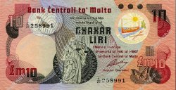 10 Liri MALTE  1979 P.36b SPL