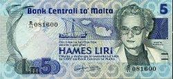 5 Liri MALTE  1986 P.38 TTB+