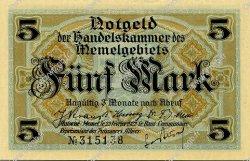 5 Mark MEMEL  1922 P.04b NEUF
