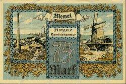 75 Mark MEMEL  1922 P.08 SPL