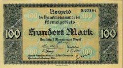 100 Mark MEMEL  1922 P.09 SUP