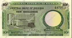 10 Shillings NIGERIA  1967 P.07 SPL