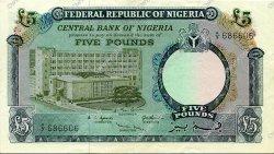 5 Pounds NIGERIA  1967 P.09 SUP+