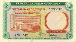 5 Shillings NIGERIA  1968 P.10a SUP+