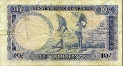 10 Shillings NIGERIA  1968 P.11b TB à TTB
