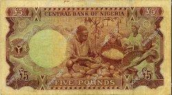 5 Pounds NIGERIA  1968 P.13a TB