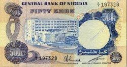 50 Kobo NIGERIA  1973 P.14f SUP