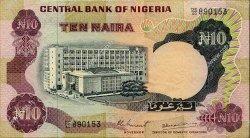 10 Naira NIGERIA  1973 P.17d TTB